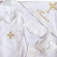Крестильный набор Ажурный крестик, Украина