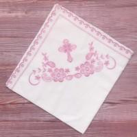 Крыжма ситцевая для девочки Розовый Крестик, Украина
